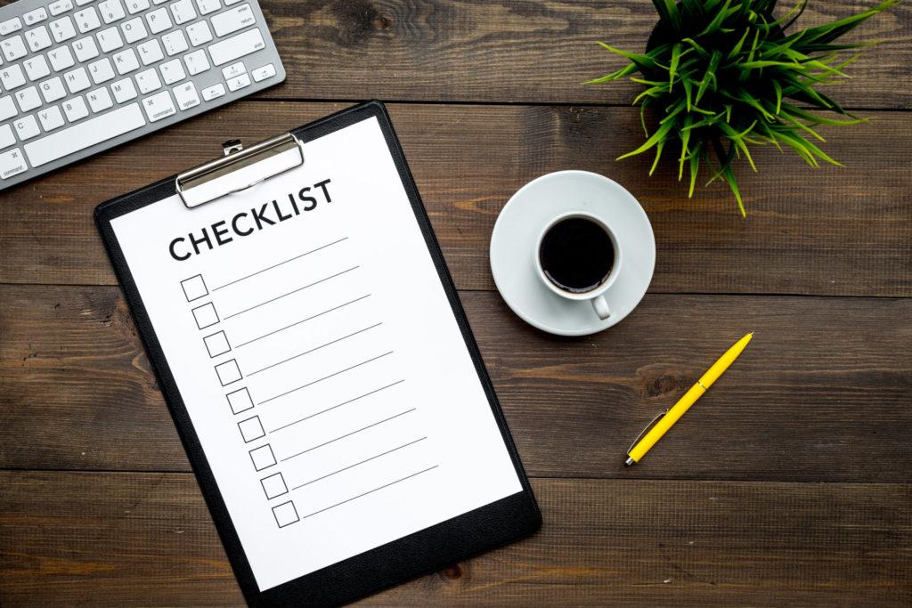 H&K Inventory Checklist